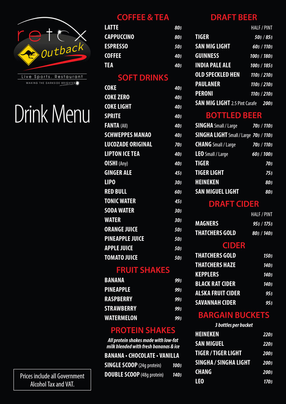 retox gameon drink menu side a