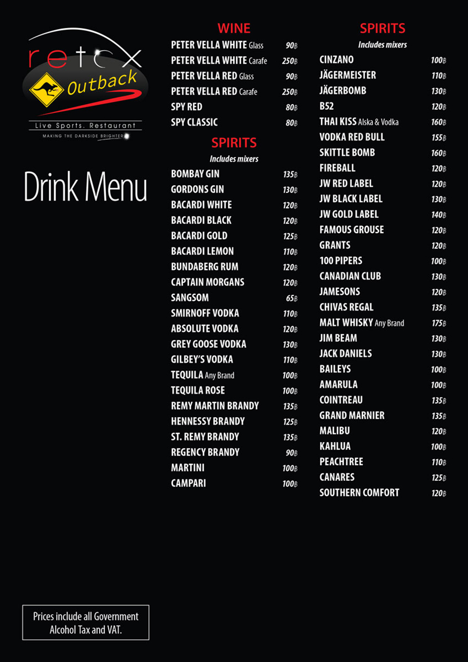 retox gameon drink menu side b